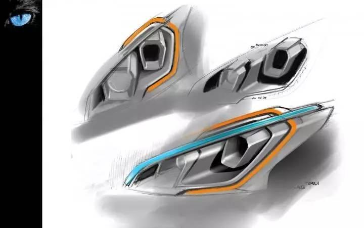 design   100张汽车车灯设计图,你想要的都在这里图片